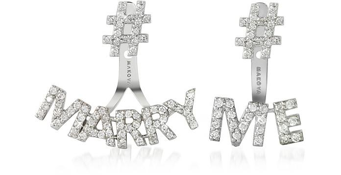 #Marry #Me 18K Gold & 0.69 ctw Diamonds Earrings - Makova Jewelry