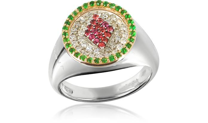 ダイヤのクィーン ピンキーリング - Makova Jewelry