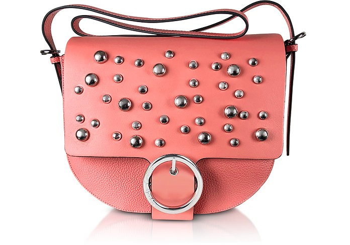 Coral Pink Studded Shoulder Bag - Manila Grace