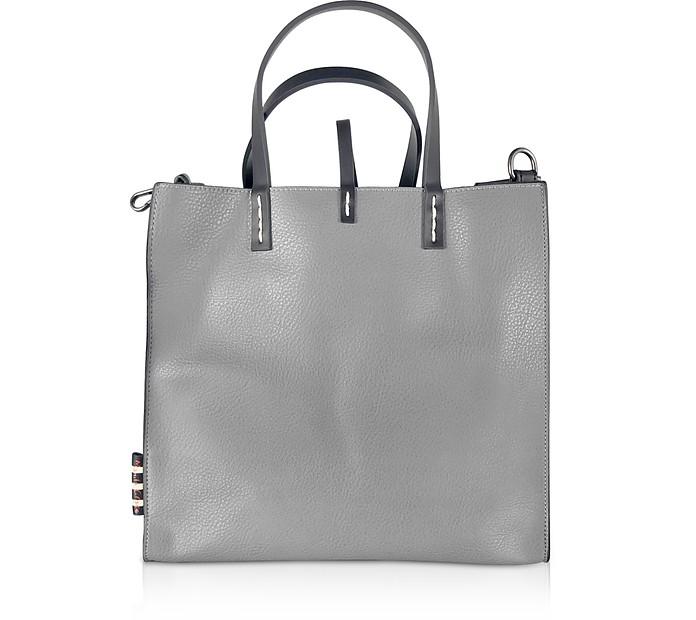 Shopping Bag Felicia in Eco-Pelle Cemento - Manila Grace