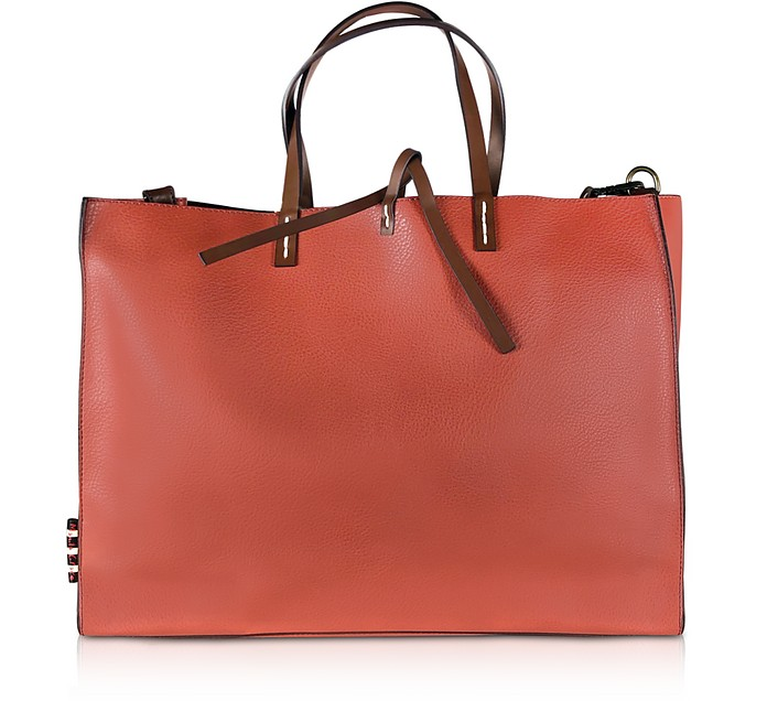 Felicia E/W Shopping Bag in Eco-Pelle - Manila Grace