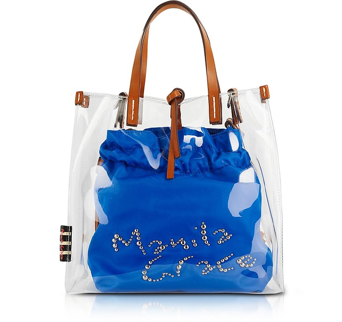 Felicia Shopping Bag in PVC Trasparente - Manila Grace