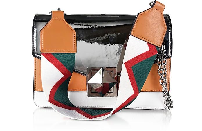 Color Block Laminated Shoulder Bag - Manila Grace