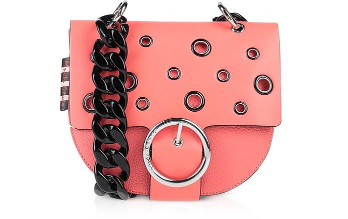 Pink Allover Eyelet Shoulder Bag - Manila Grace
