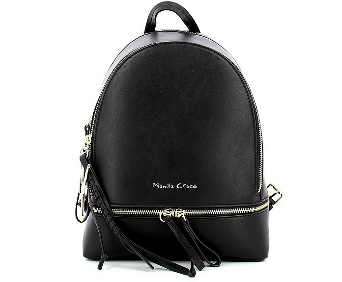 Women's Black Backpack - Manila Grace