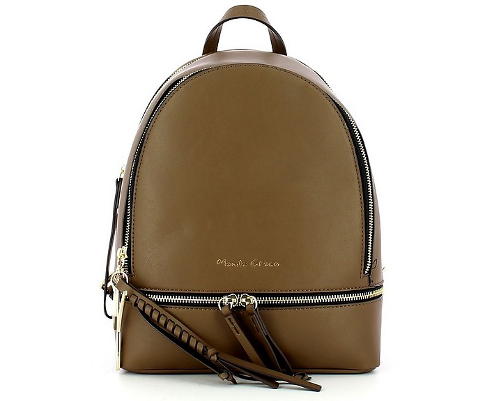 Women's Brown Backpack - Manila Grace