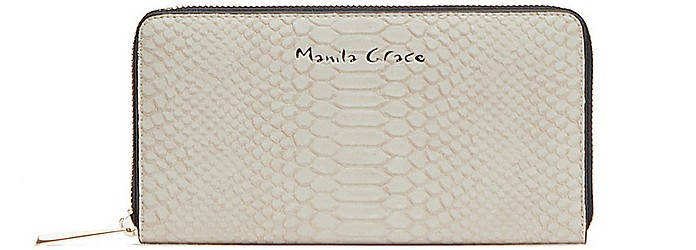 Women's Beige Wallet - Manila Grace