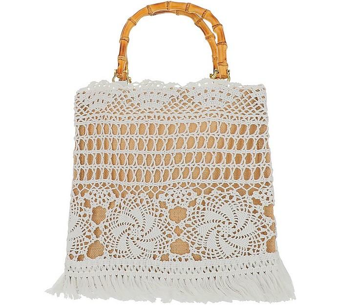 Small Natural Crochet Tote Bag - LaMILANESA
