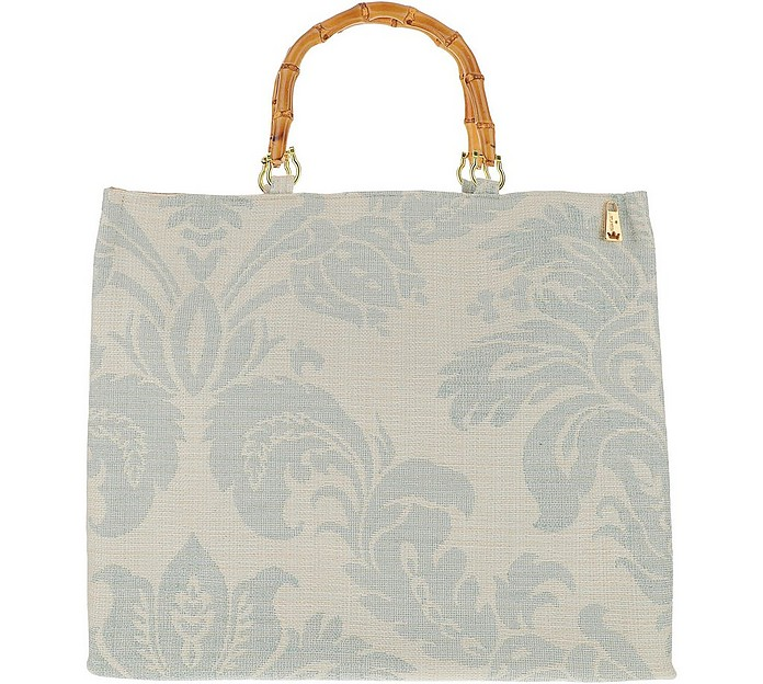Large Jacquard Canvas Tote Bag - LaMILANESA