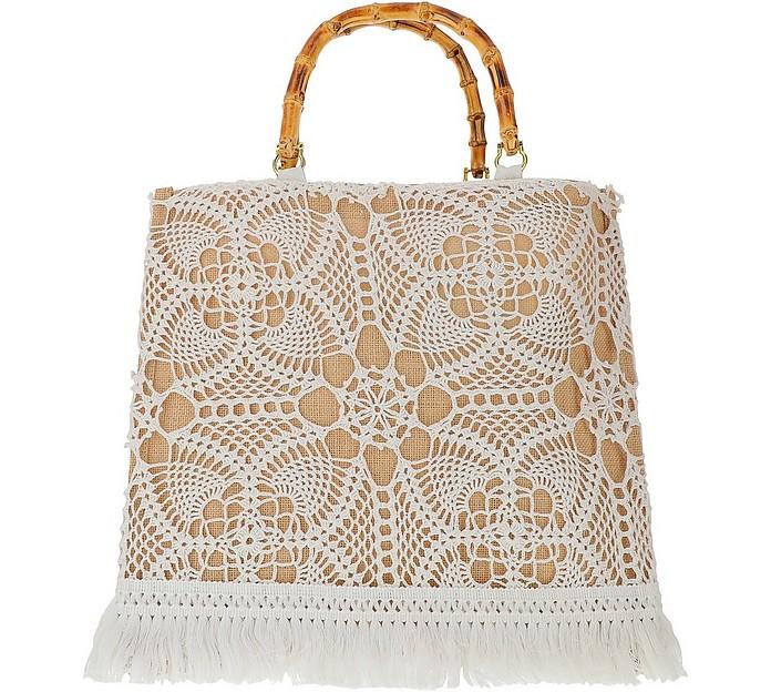 Natural Crochet Tote Bag - LaMILANESA