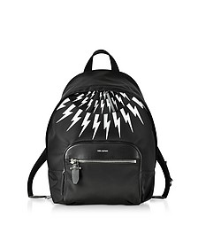Black and White Nylon Classic Backpack - Neil Barrett / ニール バレット
