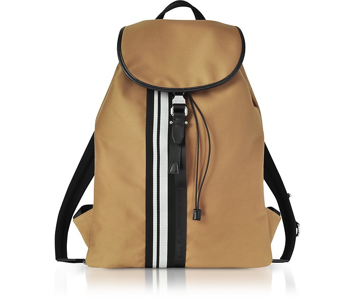 Camel Striped Canvas Rucksack - Neil Barrett