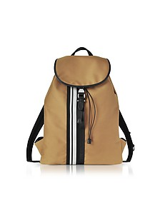 Camel Striped Canvas Rucksack - Neil Barrett / ニール バレット