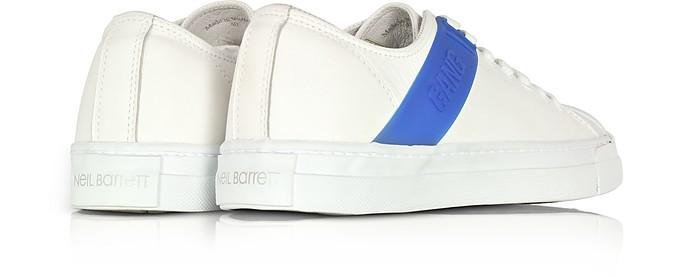 Gang Trainer Sneakers in Pelle bianco Ottico e Gomma Blu Cobalto Neil Barrett 39 (39 EU) nXKjCiRutP