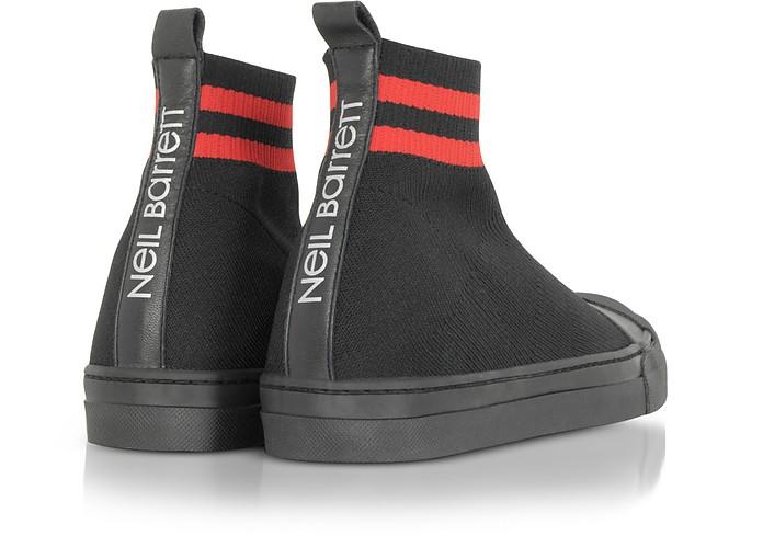 Skater Boots in Tessuto Tech Black&Red Neil Barrett 39 (39 EU) dIqIv
