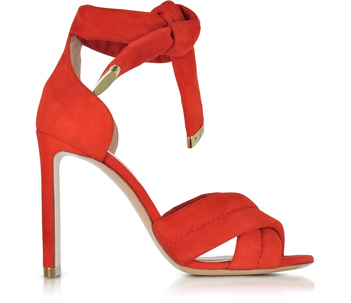 Ziggy Coral Red Suede Sandal - Nicholas Kirkwood / ニコラス カークウッド