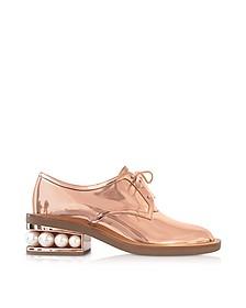 Copper Eco-Patent Leather Casati Pearl Derby Shoes - Nicholas Kirkwood