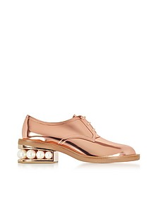 Copper Eco-Patent Leather Casati Pearl Derby Shoes - Nicholas Kirkwood