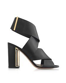 Black Nappa Leather Nini Sandals - Nicholas Kirkwood