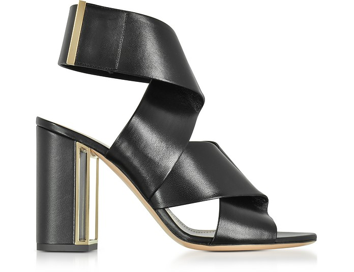 Black Nappa Leather Nini Sandals - Nicholas Kirkwood