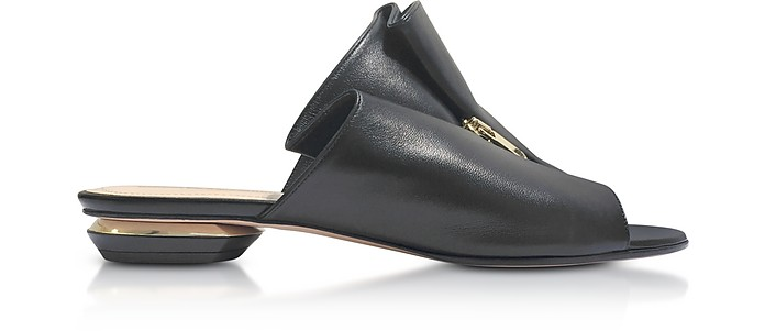 18mm Black Leather Kristen Mules - Nicholas Kirkwood / ニコラス カークウッド