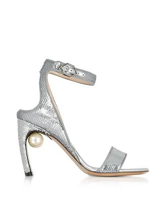 Damen Espandrillos Plateau Schuhe Sandalen Sandaletten Schwarz Silber Glitzer FL