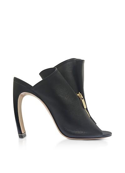 Black Nappa 105mm Kristen High Heel Mules  - Nicholas Kirkwood