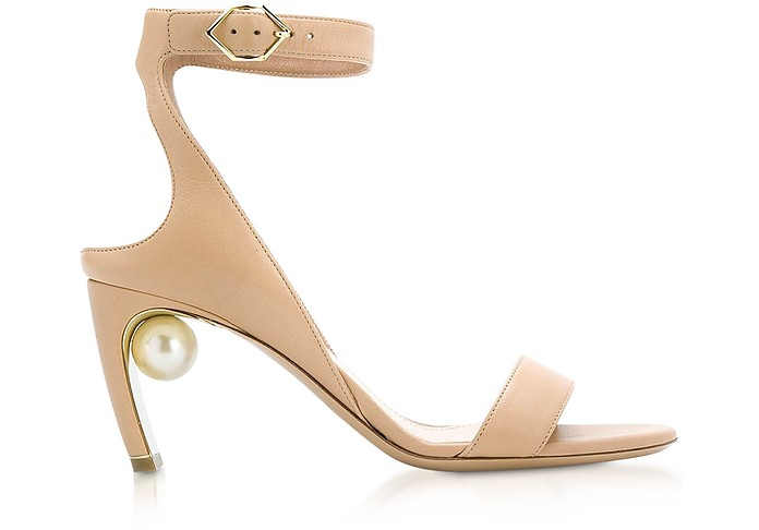 Beige Nappa 70mm Lola Pearl Sandals - Nicholas Kirkwood