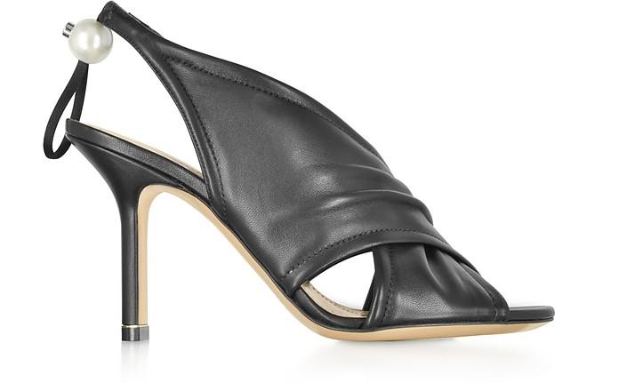 Black Nappa 90mm Delfi Sandals - Nicholas Kirkwood
