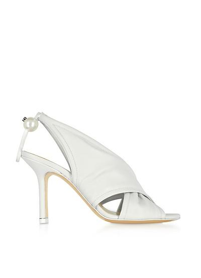 White Nappa 90mm Delfi Sandals - Nicholas Kirkwood