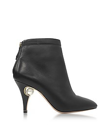 Penelope Black Nappa Pearl Ankle Boot - Nicholas Kirkwood