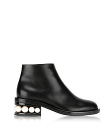 Casati Black Leather Pearl Ankle Boot - Nicholas Kirkwood