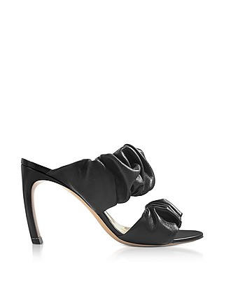 Nicholas Kirkwood Designer Shoes, 90mm Nappa Courtney Mules