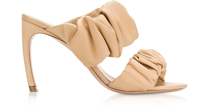 90mm Tan Nappa Courtney Mules - Nicholas Kirkwood