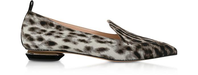 Leopard Print Pony-hair Loafers - Nicholas Kirkwood