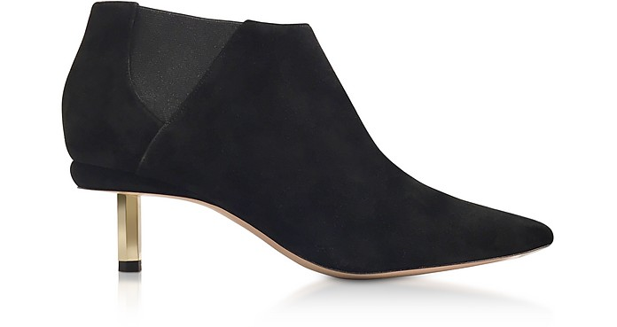 Black Suede 55mm Polly Chelsea Boots - Nicholas Kirkwood