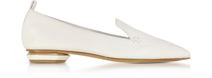 Beya White Leather Loafer - Nicholas Kirkwood