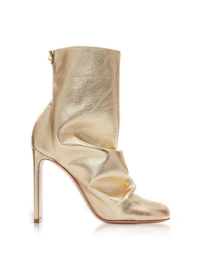Light Gold Metallic Nappa 105mm D'Arcy Ankle Boots  - Nicholas Kirkwood