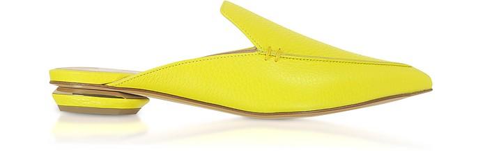 Fluo Yellow 18mm Beya Flat Mules - Nicholas Kirkwood