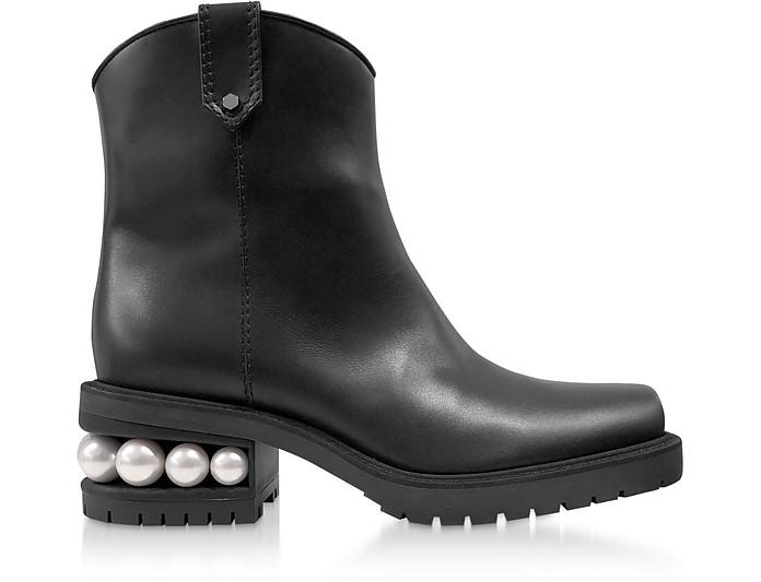 Black 35mm Casati Western Ankle Boots - Nicholas Kirkwood / ニコラス カークウッド