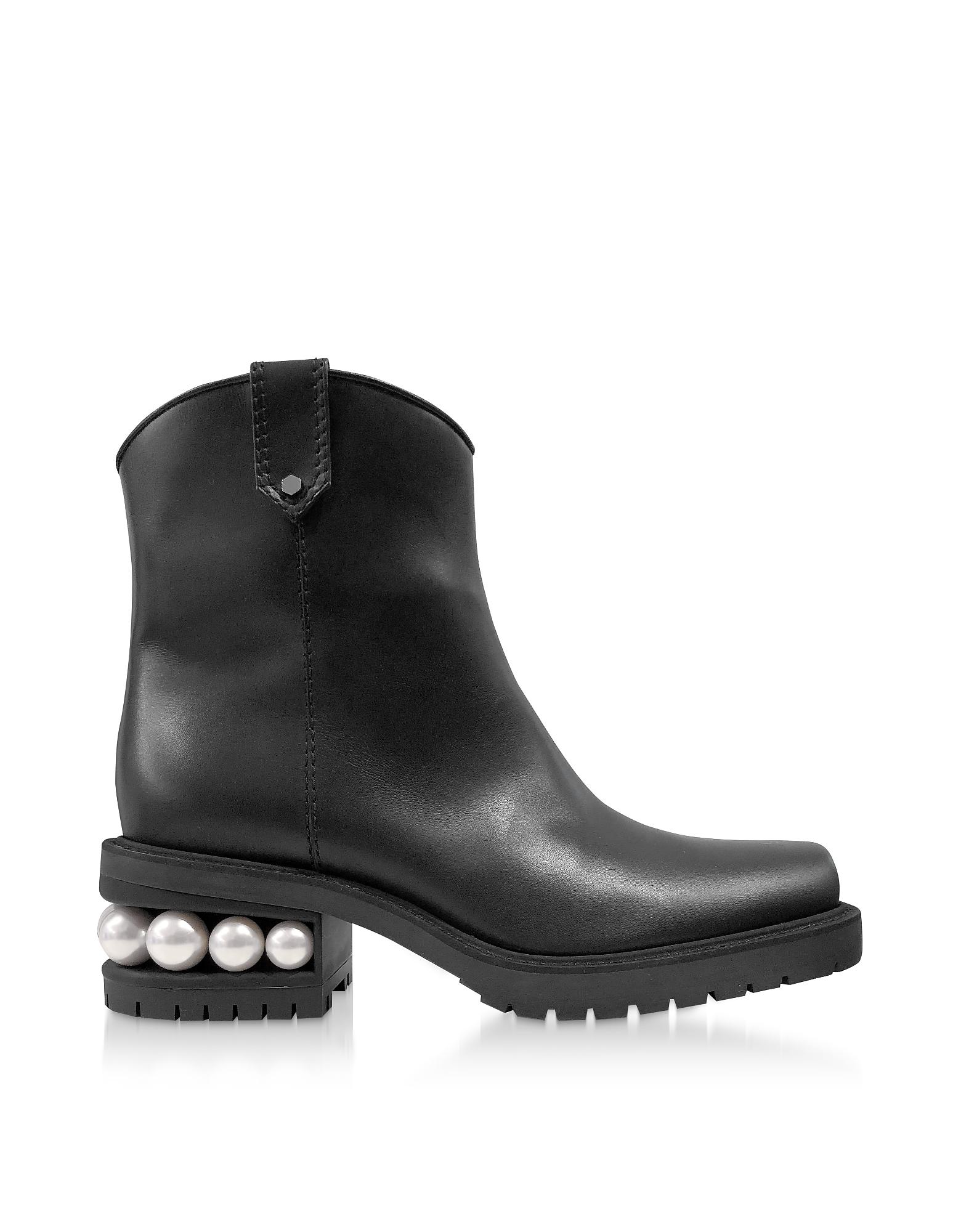 Nicholas Kirkwood Boots BLACK 35MM CASATI WESTERN ANKLE BOOTS