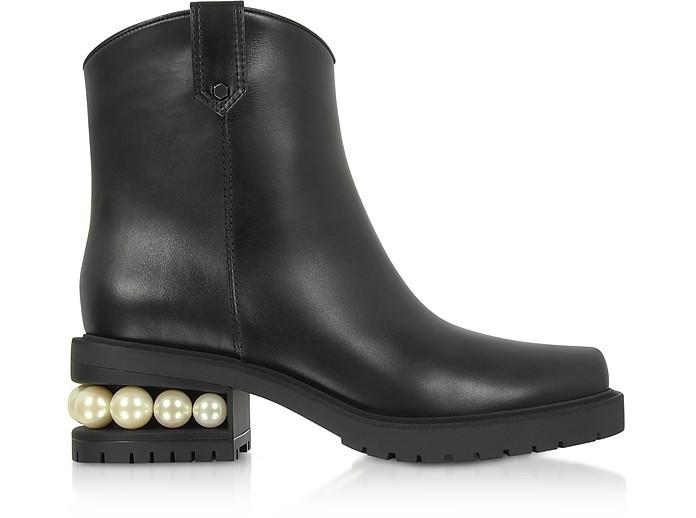 Black 35mm Casati Western Ankle Boots - Nicholas Kirkwood