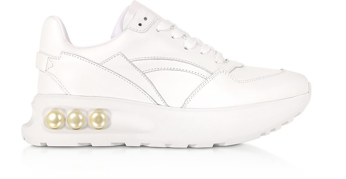 White 30mm NKP3 Lace Up Sneakers - Nicholas Kirkwood