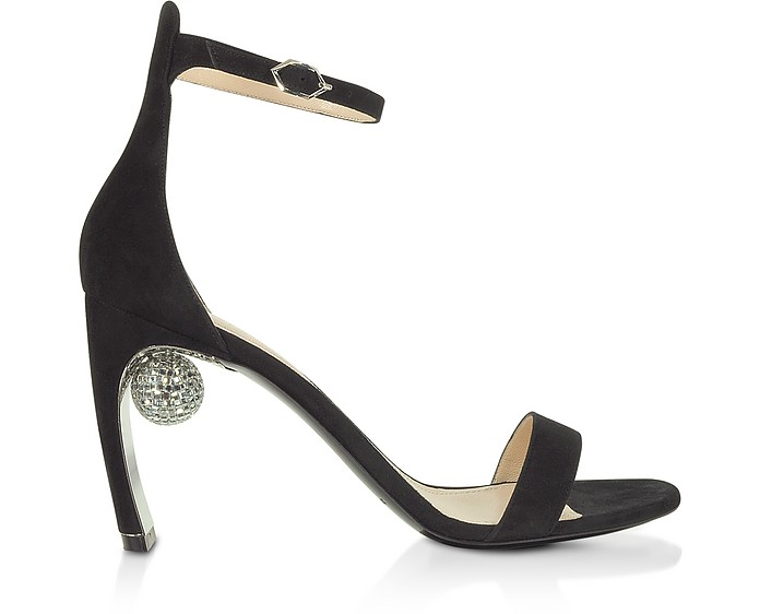 Black 90mm Maeva Sandals - Nicholas Kirkwood