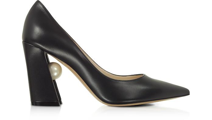 Black Nappa Leather 90mm Miri Pumps - Nicholas Kirkwood
