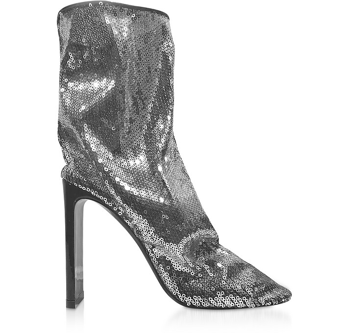 Silver 105mm D'Arcy Ankle Boots - Nicholas Kirkwood