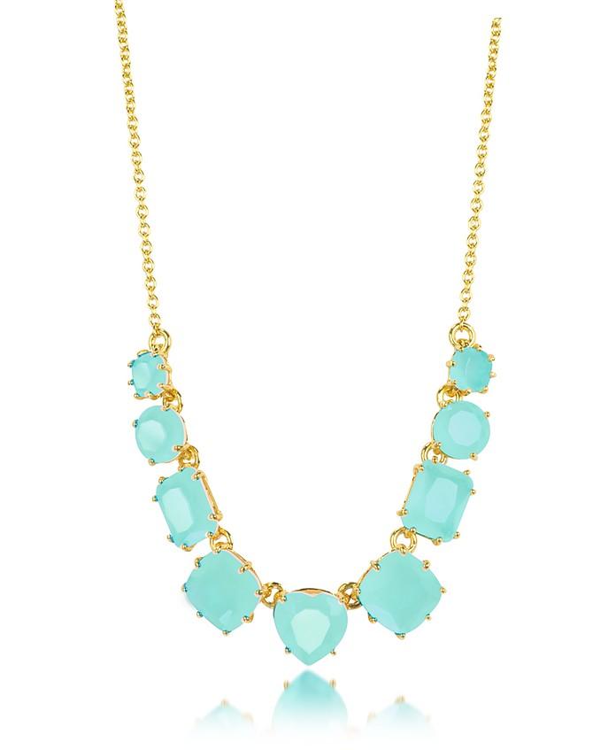 La Diamantine 9 Turquoise Stones Necklace - Les Nereides