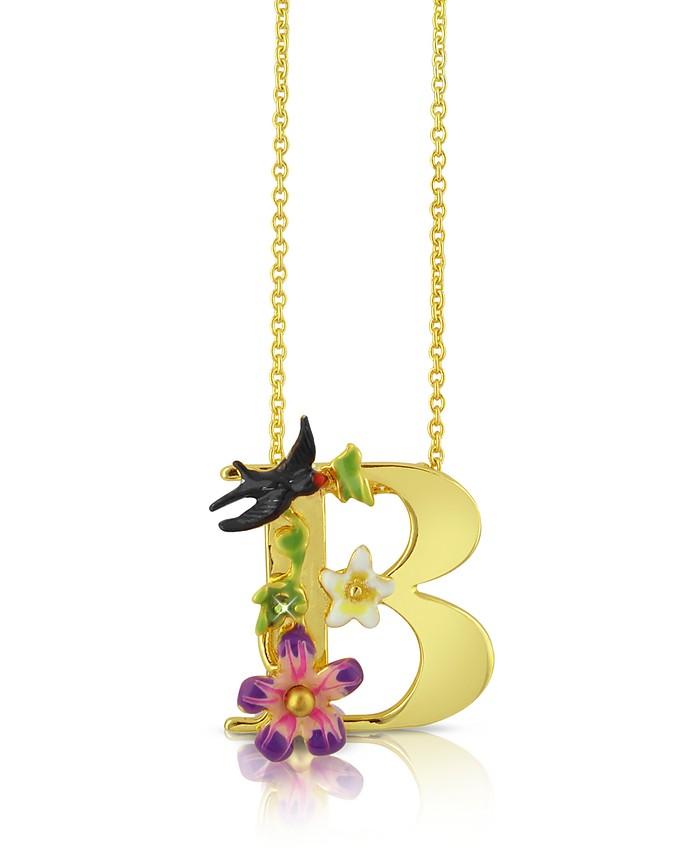Alphabet Fleuri - B Charm Necklace - Les Nereides