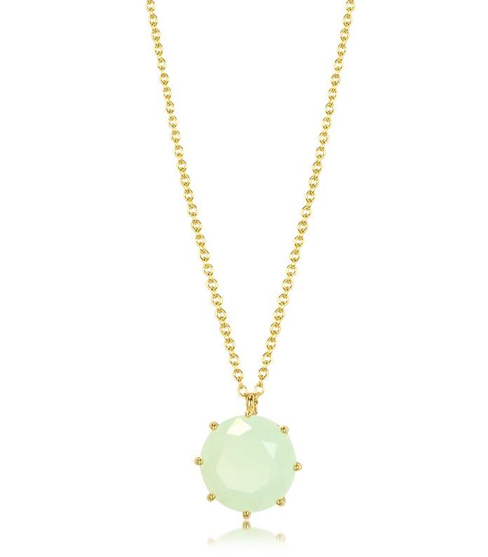 La Diamantine Necklace with Glass Pendant - Les Nereides