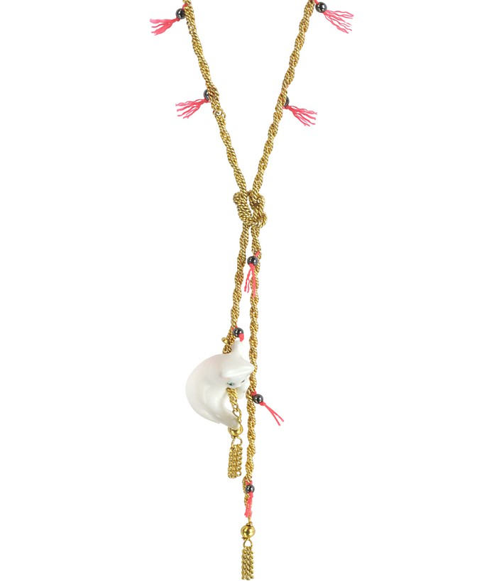 Tout Beau Tout Doux Long Golden Necklace - Les Nereides